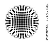 white 3d halftone sphere.dotted ... | Shutterstock . vector #1017194188