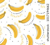 seamless pattern of ripe yellow ... | Shutterstock .eps vector #1017194662