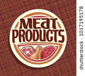 vector logo for meat  chop... | Shutterstock .eps vector #1017195178