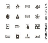 online education icons. flat... | Shutterstock . vector #1017197176