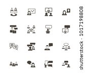business communication icons.... | Shutterstock . vector #1017198808