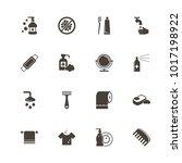 hygiene fight icons. flat... | Shutterstock . vector #1017198922
