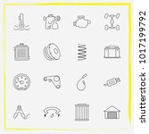auto parts line icon set tail... | Shutterstock .eps vector #1017199792