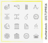 auto parts line icon set car... | Shutterstock .eps vector #1017199816