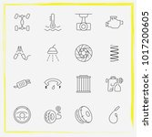 auto parts line icon set brake... | Shutterstock .eps vector #1017200605