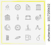 auto parts line icon set... | Shutterstock .eps vector #1017200632