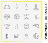 auto parts line icon set... | Shutterstock .eps vector #1017201316