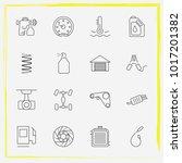 auto parts line icon set brake...   Shutterstock .eps vector #1017201382