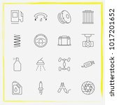auto parts line icon set airbag ... | Shutterstock .eps vector #1017201652
