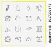 auto parts line icon set... | Shutterstock .eps vector #1017201676