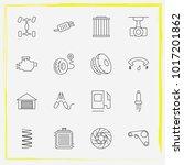 auto parts line icon set auto... | Shutterstock .eps vector #1017201862