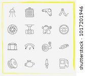 auto parts line icon set...   Shutterstock .eps vector #1017201946