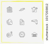 auto parts line icon set airbag ... | Shutterstock .eps vector #1017203812