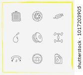 auto parts line icon set simple ... | Shutterstock .eps vector #1017203905