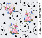 seamless pattern with beautiful ... | Shutterstock .eps vector #1017207712