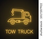 tow truck neon light icon. car... | Shutterstock .eps vector #1017207922