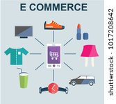 e commerce vector illustration. ... | Shutterstock .eps vector #1017208642