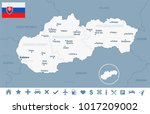 slovakia map and flag   high... | Shutterstock .eps vector #1017209002