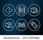 set of parcel tracking  search... | Shutterstock .eps vector #1017209686