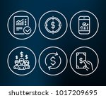 set of dollar exchange  dollar... | Shutterstock .eps vector #1017209695