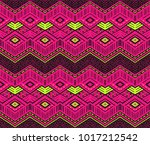 ikat geometric folklore... | Shutterstock .eps vector #1017212542