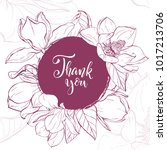 floral background. hand drawn... | Shutterstock .eps vector #1017213706