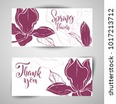 floral baners. hand drawn... | Shutterstock .eps vector #1017213712