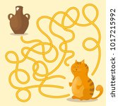 cartoon vector   maze or... | Shutterstock .eps vector #1017215992