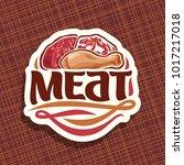 vector logo for meat  sliced... | Shutterstock .eps vector #1017217018