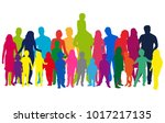 vector silhouette of family. | Shutterstock .eps vector #1017217135