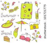 summer travel set vector... | Shutterstock .eps vector #101721775