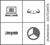 vector illustration set office... | Shutterstock .eps vector #1017218476