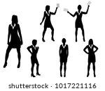 vector silhouettes women... | Shutterstock .eps vector #1017221116