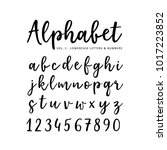 hand drawn vector alphabet.... | Shutterstock .eps vector #1017223852