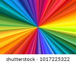Background Of Vivid Rainbow...