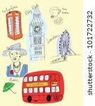 london sketch | Shutterstock .eps vector #101722732