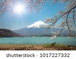 good morning mt.fuji mountain... | Shutterstock . vector #1017227332