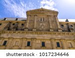the facade above the entrance... | Shutterstock . vector #1017234646