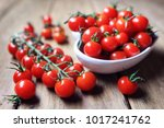 fresh cherry tomatoes on the... | Shutterstock . vector #1017241762