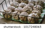 close up view of chocolate... | Shutterstock . vector #1017248065