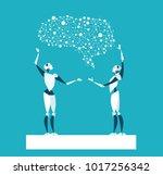 rpa robotic progress... | Shutterstock .eps vector #1017256342