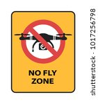 drone no fly zone sign. yellow...   Shutterstock .eps vector #1017256798