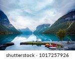 family vacation travel rv ...   Shutterstock . vector #1017257926
