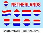 netherlands flag vector set.... | Shutterstock .eps vector #1017260098