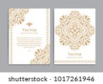 gold vintage greeting card on a ... | Shutterstock .eps vector #1017261946