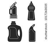 set silhouette icon bottle... | Shutterstock .eps vector #1017263035