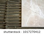 ceramic tiles and tools for... | Shutterstock . vector #1017270412