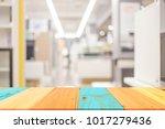 blur modern office with bokeh... | Shutterstock . vector #1017279436