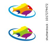 a set of fish icons   Shutterstock .eps vector #1017279472
