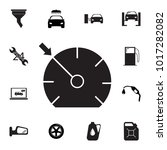 speedometer icon. set of car... | Shutterstock .eps vector #1017282082